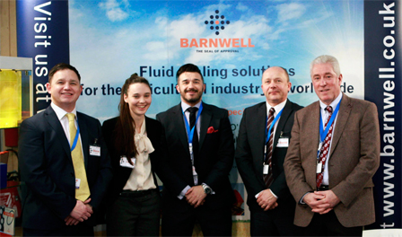 M Barnwell Services at the SIMA Show:  (Left to right) Steve Barnwell, Marion Jones, Darren Barnwell, Dave Wilcox, Peter McGarry